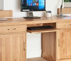 mobel oak hidden twin. Baumhaus Mobel Oak Large Hidden Office Twin Pedestal Desk - COR06D