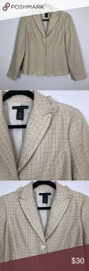 Basket Blazer Design Apostrophe Frayed Neutral Weave Blazer Jacket 10 Gorgeous