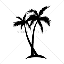 silhouette of coconut tree vector graphic