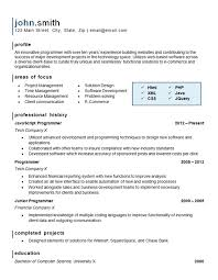 sample computer programmer resume computer programming resume example website software