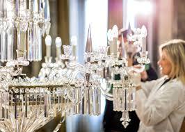 3 of 6 lasvit res crystal chandeliers for milan design week
