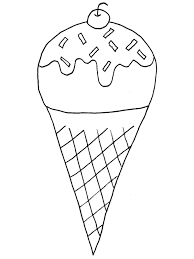 Small Picture Coloring Pages of Ice Cream Cone With Cherry Coloring Pages
