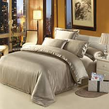 stylish 25 mm seamless heavy silk satin 4pcs bedding set 100 mulberry ivory comforter set king ideas