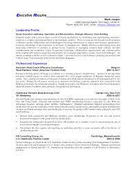 profile example for resume  profile on resume examples  resume    executive profile resume examples