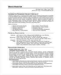 Ideas of Sample Resume For Information Security Analyst For Your Summary