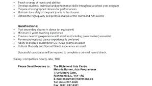 Dance Resumes Template Enchanting Dance Instructor Resume Templates Delijuice