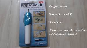 How To Etch Glass Engrave It Engraver Pen Review Wood Plastic Metal And Glass