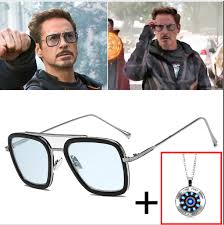 <b>AOZE Fashion</b> Avengers Tony Stark Flight Style Sunglasses Men ...