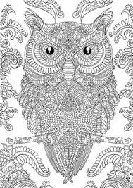 Printable Adult Coloring Pages Owls Adult Coloring Books And Free