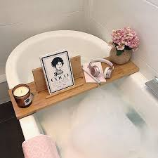 as seen on the block the relax a mate premium bamboo bath caddy shelf by couchmate couchmate