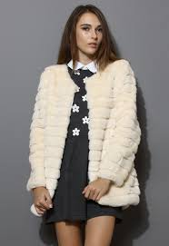 Quilted Faux Fur Coat in Cream - Retro, Indie and Unique Fashion & More Views. Quilted Faux Fur Coat ... Adamdwight.com