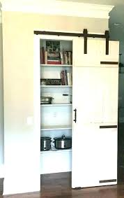 barn door kitchen cabinets pantry double doors sliding for buffet kitche