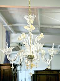murano glass leaf chandelier vintage four light gold dust glass daffodil chandelier seguso murano glass leaf