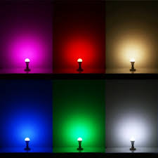 remote controlled color changing a19 5w led light bulb 16 color choice e27 medium base