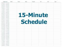 Schedule Book Template Daily Calendar Minute Increments Appointment ...