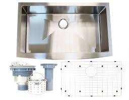 New Apron Farmhouse Single Bowl Stainless Steel Kitchen Sink