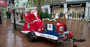 here s the chelmsford streets santa will visit with the round table this es live