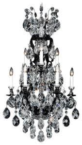 schonbek lighting 3780 51 renaissance black chandelier