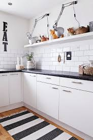 Awesome Striped Kitchen Rug Endearing Black And White Striped Kitchen Rug Black And  White