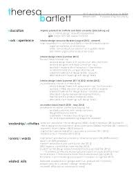 Resume For Interior Design Design Resume Graphic Design Resume
