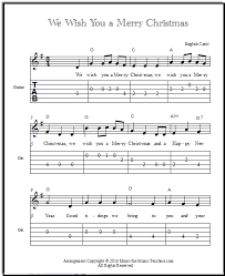 Download and print free guitar sheet music (notation and tab) and guitar lead sheets format free and featured premium digital print beginner guitar sheet music arrangements for students do you want to learn the chords to a song on the guitar? We Wish You A Merry Christmas Chords For Guitar