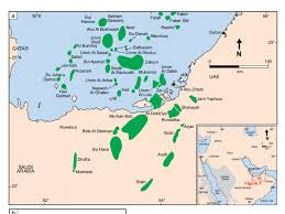 Oil Fluorescence Chart A Location Map Of The Onshore And Offshore Fields Of Abu