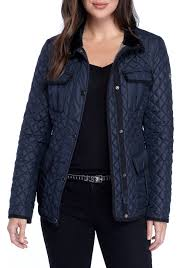 michael kors four pocket quilted jacket navy women s clothing coats jackets michael kors sneakers