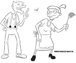 Hey Arnold Kleurplaat Opa En Oma Nickelodeon Kleurplaten