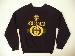 gucci sweatshirt. gucci rappers like eric b. and rakim loved gucci. who could forget how everyone sweatshirt s