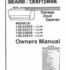 stanley garage doors door openers manuals opener manual parts canada