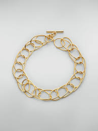 lightweight oval ring chain necklace in