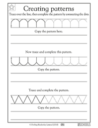 Writing Patterns Custom Kindergarten Preschool Reading Writing Worksheets Creating Letter