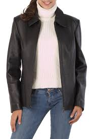 women s miranda zip front new zealand lambskin leather jacket plus size com