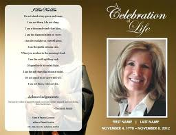 Funeral Program Word Template Adorable Free Funeral Program Template Download Folded Memorial Order Service