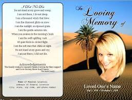 Funeral Remembrance Cards Funeral Cards Template Tellers Me
