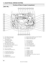 38 g electrical wiring routing, 2az–fe, Position of parts in engine ...