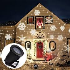 2018 led snowflake effect lights outdoor light projector garden outside holiday xmas tree decoration landscape lighting from adairs