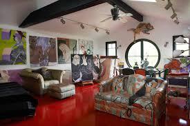 brillig manor artist studio eclectic home office artist office
