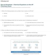extraordinary quiz worksheet chemical equations on the ap chemistry exam writing in slope intercept worksheet writing