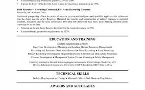 Lovely Us Army Recruiter Resume Gallery Entry Level Resume