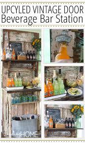 upcycled vine door beverage bar station 612x1024