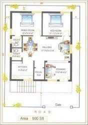 square feet x ft site east facing duplex house plans     sq foot House Plan square feet x ft site east facing duplex