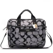 Discount Coach In Monogram Large Grey Business bags DHJ Clearance