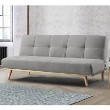 soren fabric sofa bed in light stone