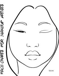 Face Charts For Makeup Artists Silvia Paperback