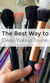 want to know how to best clean your makeup brushes at home today i m sharing the most simple way to clean your makeup brushes using only gentle shoo or