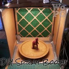diy cardboard spray booth