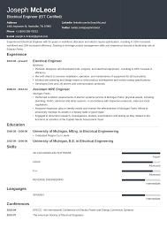 Electrical Engineering Student Resume Samples Engineer Cv