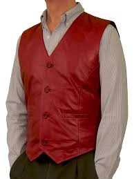 top quality mens leather waistcoat that stands out from the rest in a wine red exquisitely tailored in soft lambskin nappa leather that has a special