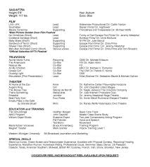 List Of Skills And Talents For Acting Resume Acting Resume Special